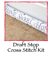 Draft Stop Cross Stitch Kit- Home Sweet Home