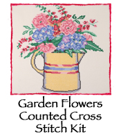 Garden Flowers Counted Cross Stitch Kit