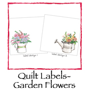 Fabric Quilt Labels- Garden Flowers