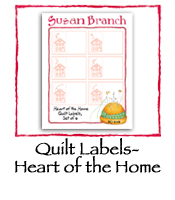 Fabric Quilt Labels- Heart of the Home
