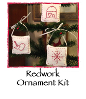 Redwork Ornament Kit