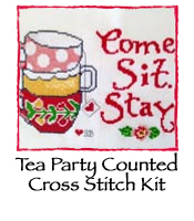 Tea Party Counted Cross Stitch Kit