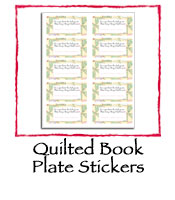 Quilted Book Plates Stickers
