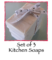 Set of 3 Lavender Kitchen Soaps