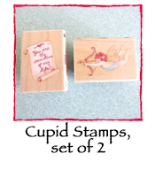Cupid Stamps, set of 2