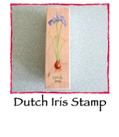 Dutch Iris Stamp