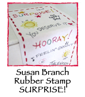 Susan Branch Rubber Stamp SURPRISE!