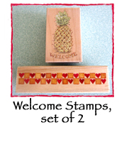 Welcome Stamps, set of 2