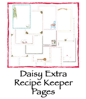 Daisy Extra Recipe Keeper Pages