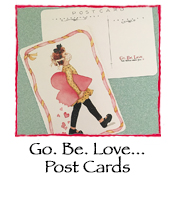 Go. Be. Love... Post Cards, set of 10
