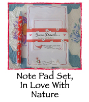 Note Pad Set, In Love With Nature