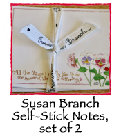 Susan Branch Self-Stick Notes, set of 2