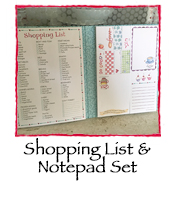 Shopping List & Notepad Set