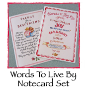 Susan Branch Words to Live By Note Cards