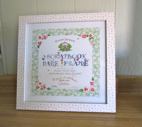 Floral Scrapbook Page Frame