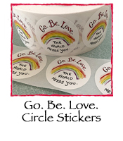 Go.Be.Love. Circle Stickers