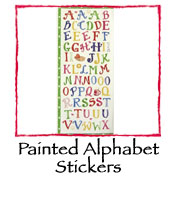 Painted Alphabet Stickers