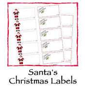 Santa's Christmas Labels