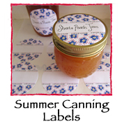 Summer Canning Labels