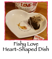 Fishy Love Heart-Shaped Dish