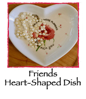 Friends Heart-Shaped Dish