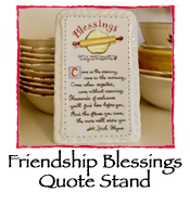 Friendship Blessings Quote Stand