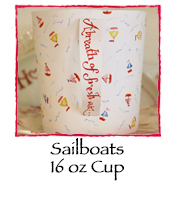 Sailboats Cup, 16 oz