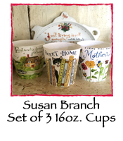 Set of 3 Mugs by Susan Branch