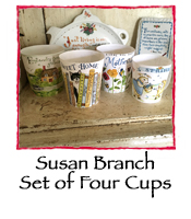 Set of 4 Mugs by Susan Branch