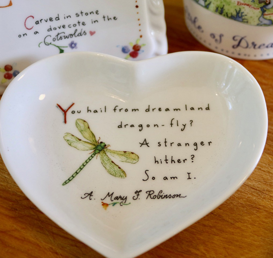 Dragonfly Heart-Shaped Dish