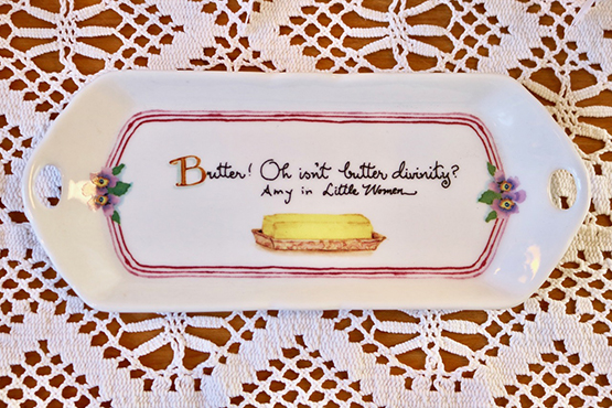 Decorated Butter Dish