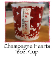 Champagne Hearts Cup, 16 oz