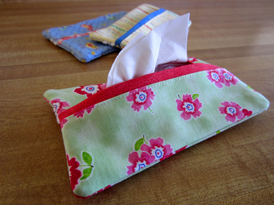 Green Floral Tissue Case