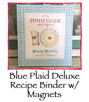 Blue Plaid Deluxe Recipe Binder w/ Magnets