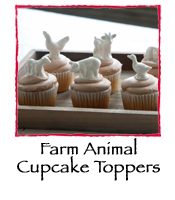 Farm Animal Cupcake Toppers