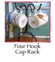 Four Hook Cup Rack