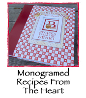 Monogramed Recipes From The Heart Binder