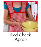 Red Check Apron