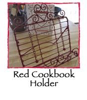 Red Cookbook Holder