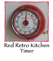 Red Retro Kitchen Timer