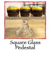 Square Glass Pedestal