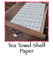 Tea Towel Shelf Paper