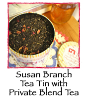 Susan Branch Tin with Private Blend Tea