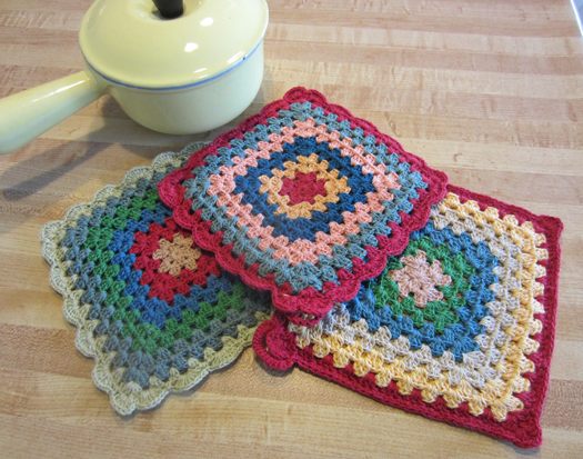 Grandma's Potholders, set of 3