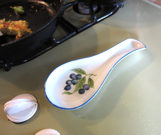 Blueberries Spoon Rest