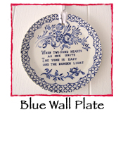 Blue Wall Plate
