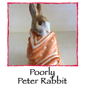 Poorly  Peter Rabbit Figurine