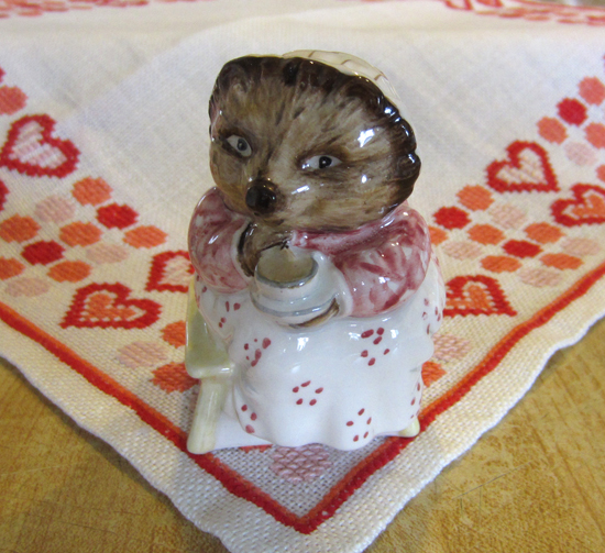 Mrs. Tiggy-Winkle Takes Tea Figurine