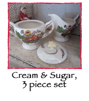 Vintage Cream and Sugar, 3 piece set