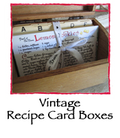 Vintage Wood Recipe Card Box